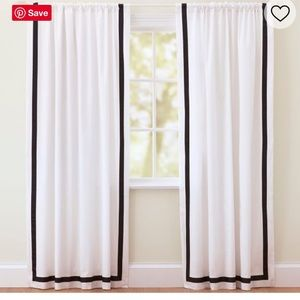PB Teen Suite Ribbon Blackout Curtain - TWO Panels